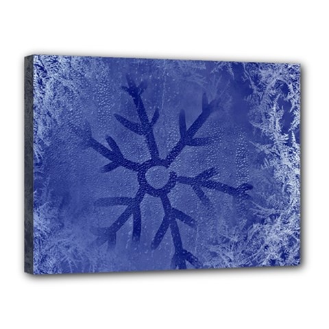 Winter Hardest Frost Cold Canvas 16  X 12  by Sapixe