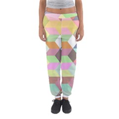 Mosaic Background Cube Pattern Women s Jogger Sweatpants by Sapixe