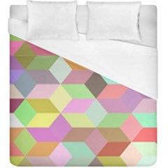 Mosaic Background Cube Pattern Duvet Cover (king Size) by Sapixe