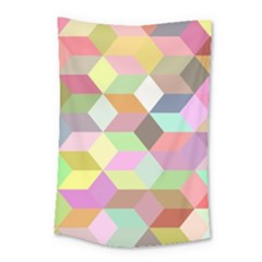 Mosaic Background Cube Pattern Small Tapestry by Sapixe