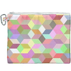 Mosaic Background Cube Pattern Canvas Cosmetic Bag (xxxl) by Sapixe