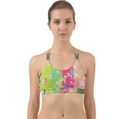 Question Mark Problems Clouds Back Web Sports Bra