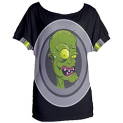 Zombie Pictured Illustration Women s Oversized Tee