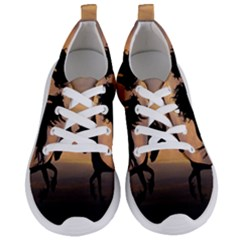 Horses Sunset Photoshop Graphics Women s Lightweight Sports Shoes