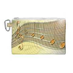Music Staves Clef Background Image Canvas Cosmetic Bag (large) by Sapixe