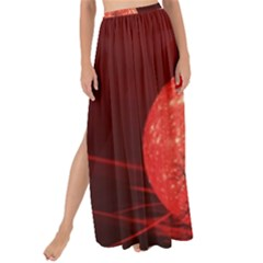 The Background Red Moon Wallpaper Maxi Chiffon Tie Up Sarong
