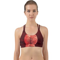The Background Red Moon Wallpaper Back Web Sports Bra