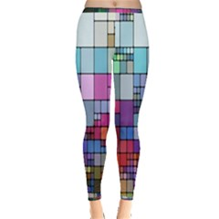 Color Abstract Visualization Inside Out Leggings