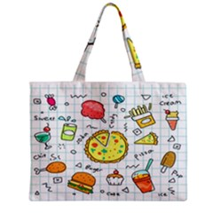 Colorful Doodle Soda Cartoon Set Mini Tote Bag by Sapixe