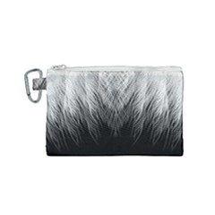 Feather Graphic Design Background Canvas Cosmetic Bag (small) by Sapixe