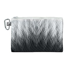 Feather Graphic Design Background Canvas Cosmetic Bag (large) by Sapixe