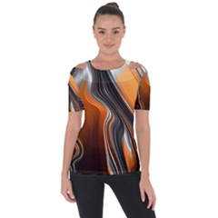 Fractal Structure Mathematics Short Sleeve Top