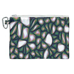 Fuzzy Abstract Art Urban Fragments Canvas Cosmetic Bag (xl)