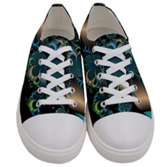 Fractal Art Artwork Digital Art Women s Low Top Canvas Sneakers