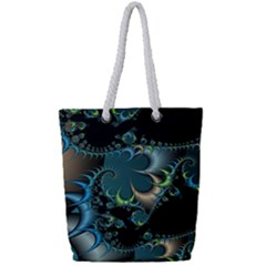 Fractal Art Artwork Digital Art Full Print Rope Handle Tote (small)