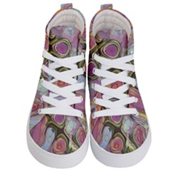 Retro Background Colorful Hippie Kid s Hi Top Skate Sneakers