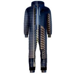 Skyscraper Skyscrapers Building Hooded Jumpsuit (men)  by Sapixe