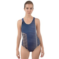 Skyscraper Skyscrapers Building Cut Out Back One Piece Swimsuit