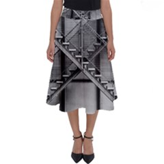 Architecture Stairs Steel Abstract Perfect Length Midi Skirt