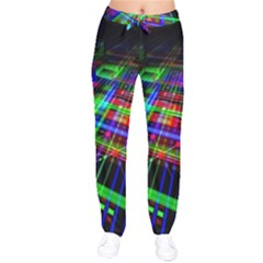 Electronics Board Computer Trace Velvet Drawstring Pants by Sapixe