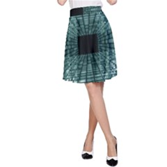 Abstract Perspective Background A Line Skirt
