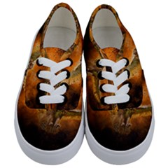 Art Creative Graphic Arts Owl Kids  Classic Low Top Sneakers