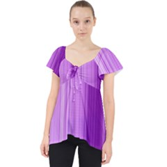 Background Texture Pattern Purple Lace Front Dolly Top
