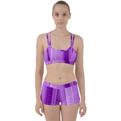 Background Texture Pattern Purple Women s Sports Set