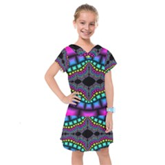 Fractal Art Artwork Digital Art Kids  Drop Waist Dress