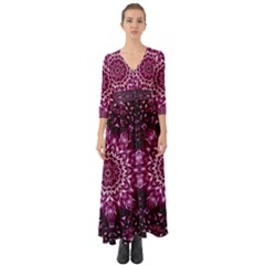 Background Abstract Texture Pattern Button Up Boho Maxi Dress