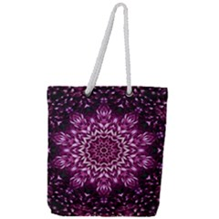 Background Abstract Texture Pattern Full Print Rope Handle Tote (large)