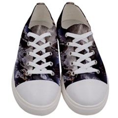 Mountains Moon Earth Space Women s Low Top Canvas Sneakers