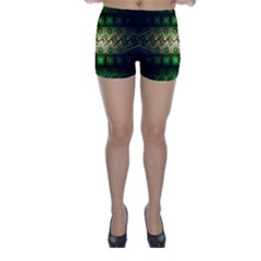 Fractal Art Digital Art Skinny Shorts by Sapixe