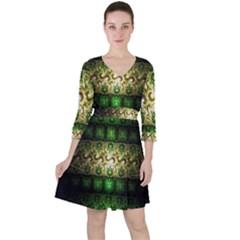 Fractal Art Digital Art Ruffle Dress
