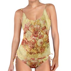 Vintage Digital Graphics Flower Tankini Set