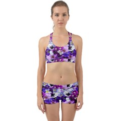 Graphic Background Pansy Easter Back Web Gym Set