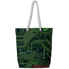 Board Computer Chip Data Processing Full Print Rope Handle Tote (small)