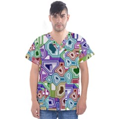 Board Interfaces Digital Global Men s V Neck Scrub Top