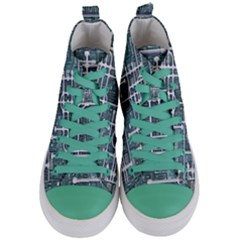 Board Circuit Control Center Women s Mid Top Canvas Sneakers