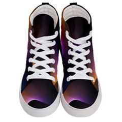 Star Graphic Rays Movement Pattern Women s Hi Top Skate Sneakers