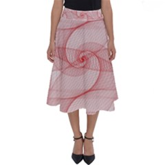 Red Pattern Abstract Background Perfect Length Midi Skirt