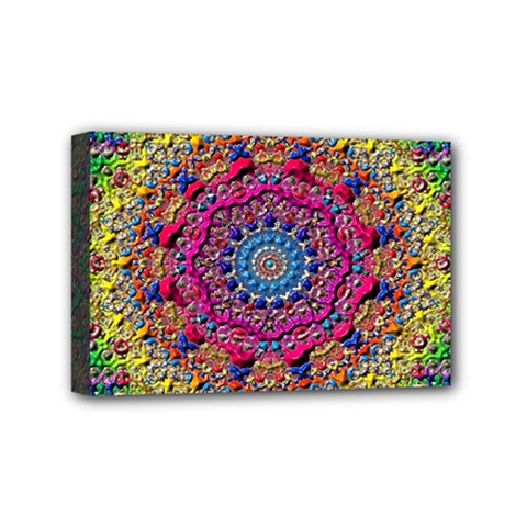 Background Fractals Surreal Design Mini Canvas 6  X 4  by Sapixe