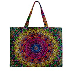 Background Fractals Surreal Design Zipper Mini Tote Bag by Sapixe