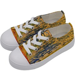 The Framework Drawing Color Texture Kids  Low Top Canvas Sneakers by Sapixe