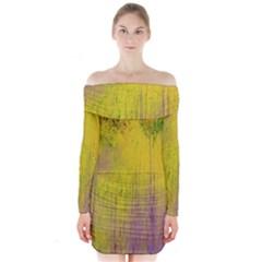 Artscape 1   Coming Of Spring Long Sleeve Off Shoulder Dress
