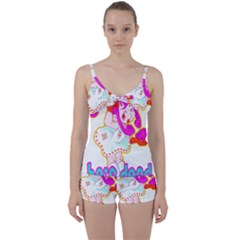 Oopsi Tie Front Two Piece Tankini
