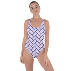 Brick2 White Marble & Purple Leather (r) Bring Sexy Back Swimsuit