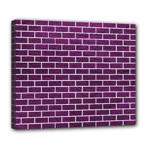 Brick1 White Marble & Purple Leather Deluxe Canvas 24  X 20