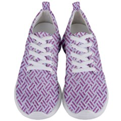 Woven2 White Marble & Purple Glitter (r) Men s Lightweight Sports Shoes