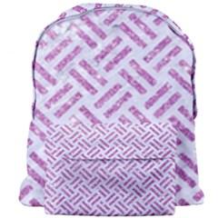 Woven2 White Marble & Purple Glitter (r) Giant Full Print Backpack